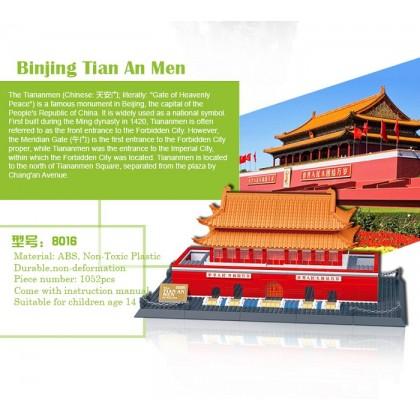 Wange 8016 The Tian An Men of Beijing 3D Building Block DIY Toy Gift
