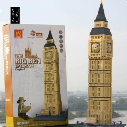 Wange 8014 The Big Ben of London England 3D Building Block DIY Toy Gift
