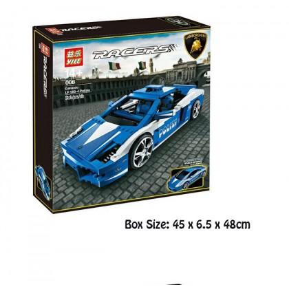 Yile Racers Lamborghini Building Sets LP 560-4 Polizia