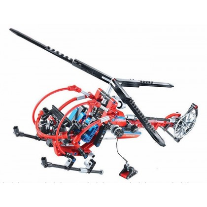 Decool 3356 Technic High Tech Series Aero King Helicopter Building Block Sets Toys