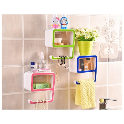 Creative Digital 9 Plastic Box Suction Wall Type Plastic Soap Organizer