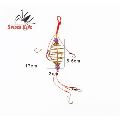 Spider King 2 Layer Explosion Bomb Fishing Hook BH942