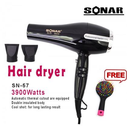 Sonar SN-57 Professional Hairdressing Heavy Duty High Power Hair Dryer 3900Watts +Free Gift