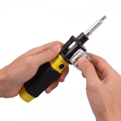 Bit 360 Deluxe hand All-in-One Screwdriver and Bit Set-Six Common Screwdriver