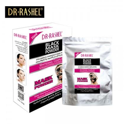 Dr-Rashel Black Mask Powder Collagen Charcoal Black Mask 200gm Powder Whitening Complex