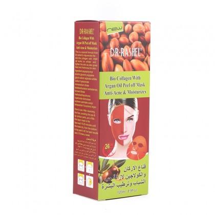 DR.RASHEL Face Mask Argan Oil Peel Off Facial Mask With Bio Collagen Anti-Acne Whitening Deep Clean Pore 120ml