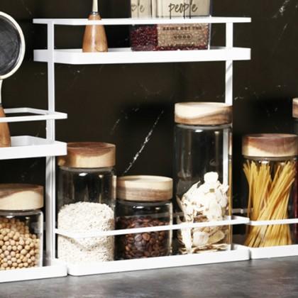 Iron Metal Spice Stand Holder Rack Kitchen Home Toilet Storage Organizer