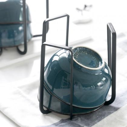 Iron Metal Dish Bowl Pot Lid Drying Stand Holder Rack Mug Cup Stand