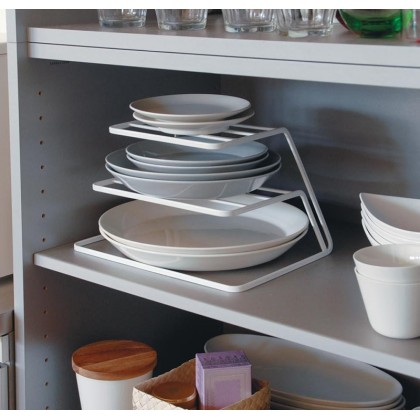 Iron Metal 3-layer Plate Dish Shelf Kitchen Storage Rack Organizer Nordic Style