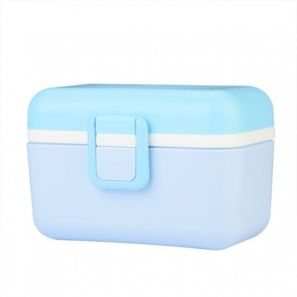 550ml Portable Air Tight Milk Powder Layer Container Fruit Storage Box With Spoon