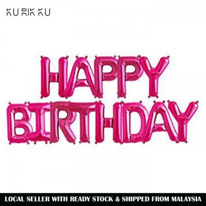 16 Inch Happy Birthday Letter Party Decoration Foil Balloon