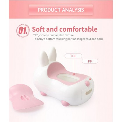 Cute Rabbit Potty Children Baby Toilet Bowl Infants Toddler Toilet Potty Training