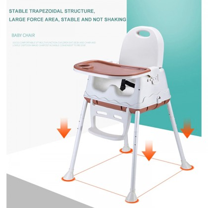 3 In 1 Multifunctional Adjustable Baby Kids Safety Dining High Chair Booster Cushion