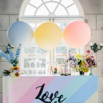15/ 36 Inch Big Sweet Macaron Balloon Candy Colour Pure Latex Balloons Wedding Decor Birthday Party Events Supplies