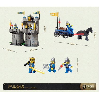 Enlighten 1020 Castle Series Medieval Castle Knight Pagoda Carriage Model Building Blocks Sets