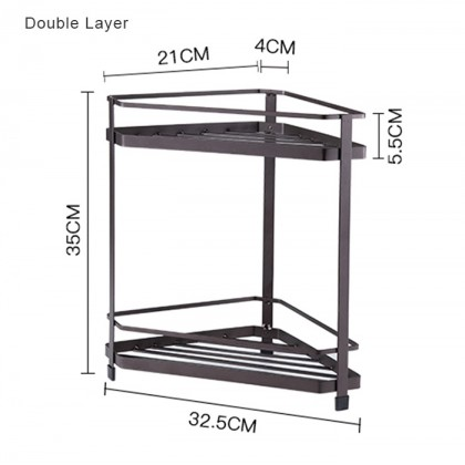 Iron Metal Multi Usage Double Single Layer Spice Stand Kitchen Rack Home Toilet Storage Organizer