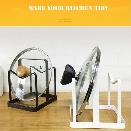 Iron Metal Kitchen Shelf Rack Cutting Board Organizer Storage Plate Silver Dish Drainer Stand Rack Shelves Stove Cover