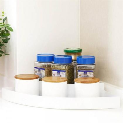 3 Tiers Kitchen Corner Frame Spice Storage Rack Condiment Seasoning Shelf Storage