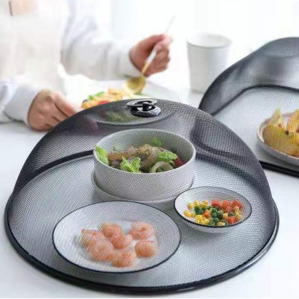 Stainless Steel Mesh Table Top Dish Food Cover Kitchen Dining Dust Proof Anti Flies Food Lid