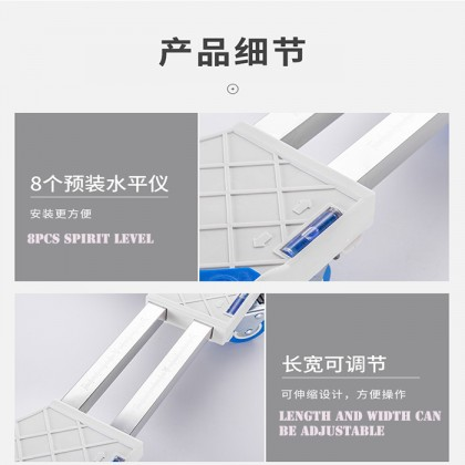 Double Row Stainless Steel Connect Tube Strong Heavy Washing Machine Refrigerator Bracket Stand Adjustable Base With Wheels