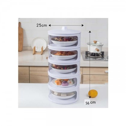 5 Layer Food cover Transparent Stackable Food Insulation Dustproof for Home Kitchen Refrigerator Insulation Dish Cover