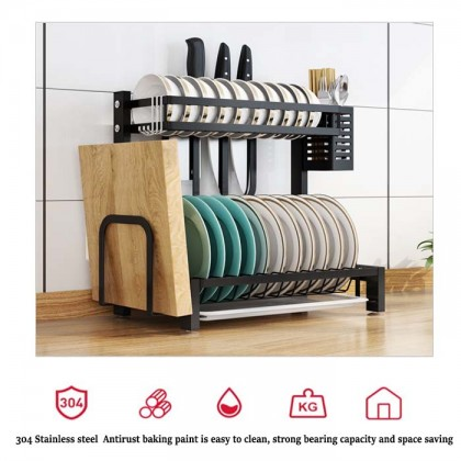 304 Stainless Steel Kitchen Dish Rack Plate Cutlery Cup Dish Drainer Drying Rack Kitchen Organizer Storage Holder