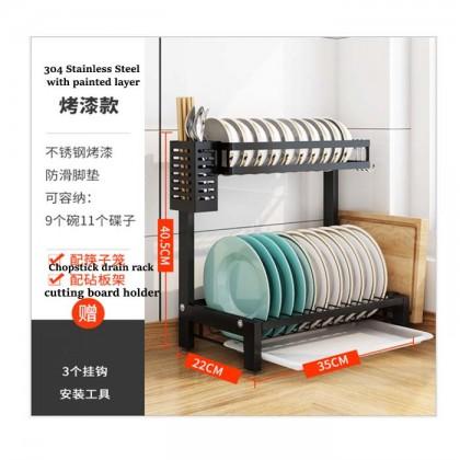 304 Stainless Steel Kitchen Dish Rack Plate Cutlery Cup Dish Drainer Drying Rack Kitchen Organizer Storage Holder