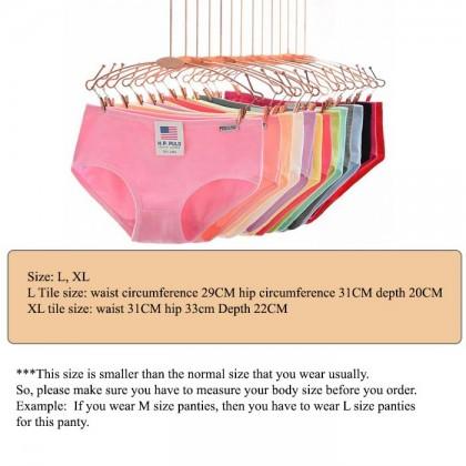 H.P. PULO Macaroon Cotton Panties Women Underwear Girls Briefs Mid Waist Comfortable Colourful Lady Panty