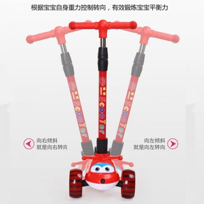 Adjustable Height LED Flash Light Music Scooter Kid 3 Wheel (5cm) Scooter Tricycle Bike