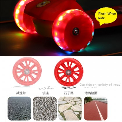 Adjustable Height LED Flash Light Scooter Kid 3 Wheel (5cm) Scooter Tricycle Bike