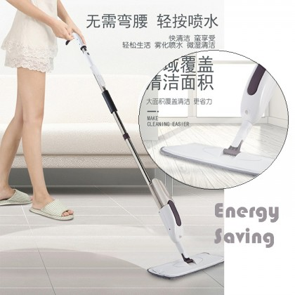 Atomization Nozzle Cleaning Magic Water Spray Mop Refillable Bottle Microfiber Washable Pad  Window Floor Cleaning Flat Sprayer Mop