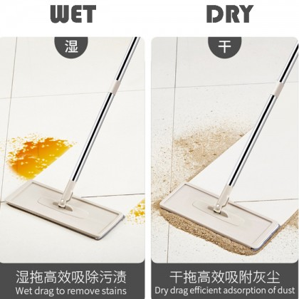 Hand Free Scraping Flat Mop Self Wet Dry Microfiber Window Floor Cleaning Mop Handle Accessories (No Bucket)
