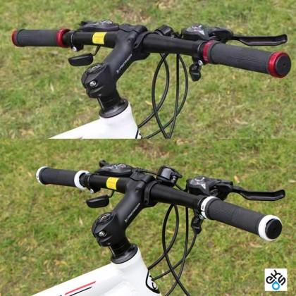 Non Slip Rubber Bicycle Handle Bar Grip With Aluminum Lock Bike Grip (1pair)