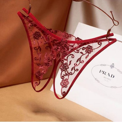 2235 Women Panties Lace Thong Crotch Panties G-String Sexy Underwear Breathable Lingerie Bikini