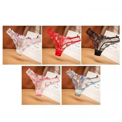 3026 Women Panties Lace Thong Crotch Panties G-String Sexy Underwear Breathable Lingerie Bikini