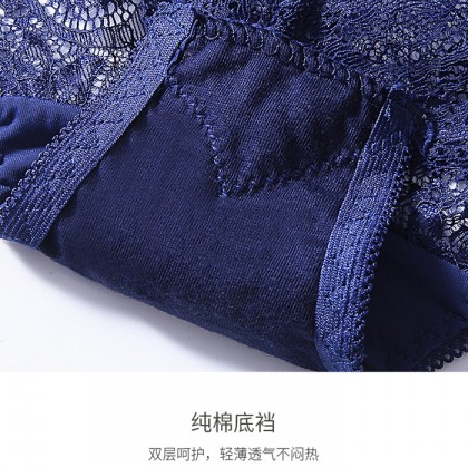 3031 Women Soft Panties Lace Thong Crotch Panties G-String Sexy Underwear Breathable Lingerie Bikini