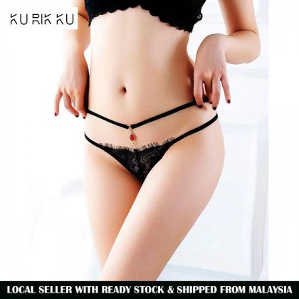 2225 Women Panties Lace Thong Crotch Panties G-String Sexy Underwear Breathable Lingerie Bikini