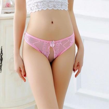 2195 Women Panties Lace Thong Crotch Panties G-String Sexy Underwear Breathable Lingerie Bikini