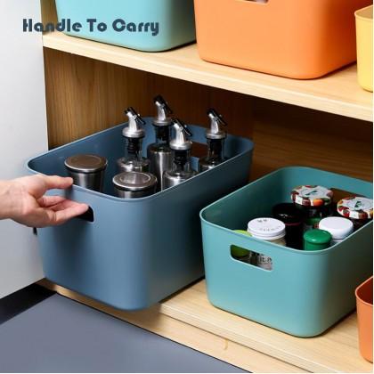 Household Multipurpose Desktop Storage Basket Bin Box Organizer With Handle