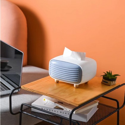 Radio Design Tissue Box Cover Napkin Facial Holder Paper Towel Dispenser Container With Bamboo Charcoal