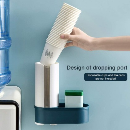 Pull Type Disposable Cup Holder Water Dispenser Cup Holder Self Adhesive Wall Mounted