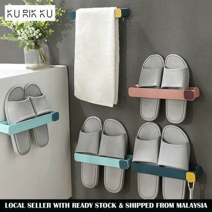 Wall Mount Slipper Shoes Tower Pot Lid Hanging Rack Storage Organize