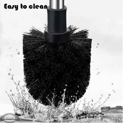 Ergonomic Toilet Bowl Brush Ventilation Design Wall Hanging Stainless Steel Handle Durable Bristles Set