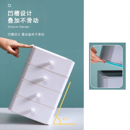 Stackable Shelves Drawer Desktop Cosmetic Jewelry Vanity Stationary Office Storage Box
