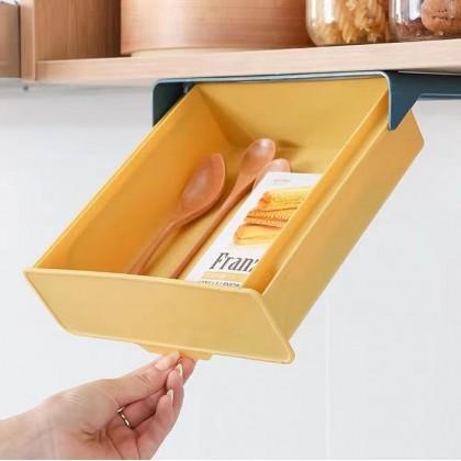 Under Shelf Pull Out Drawer Storage Box Refrigerator Organizer Bin Fridge Drawer Design
