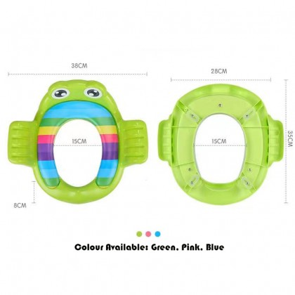 Froggy Baby Toilet Seat Training Seat Soft Cushion Child Seat with Handle