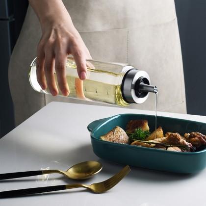 Oil dispenser Glass Transparent borosilicate Oil Bottle Vinegar Sauce Dispenser Cooking Seasoning Bottle