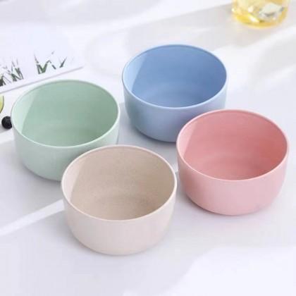 4Pcs Natural Wheat Bowl Set Lightweight Unbreakable Wheat Bowl Baby Tableware Dishwasher Safe