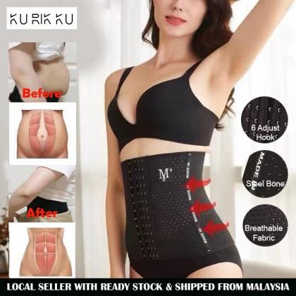 6 Baris Butang 4 Tulang M+ Postpartum Belly Wrap Waist Trainer Slim Waist Support Pelvis Slimming Belt Body Shaper Bengkung