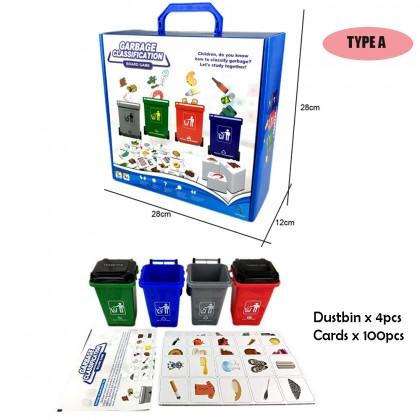 Garbage Classification Dustbin Learning Toys Children's Card Game 100/108pcs Cards Kids Toy & Education
